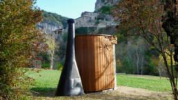 Toilette publique Kazuba KL2 - Installation dans les Alpes