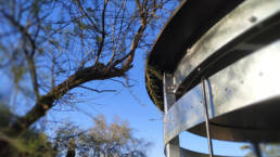 Toilette sèche Kazuba - Montage cabine haut arbre- Projet Parc ONITO DE GAU