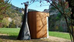 Toilette sèche extérieure KL2 dans une réserve nationale