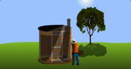 Etape 3 Installation du bardage pour les toilettes sèches extérieures