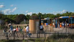 Arrêt de bus à Montpellier équipé du modèle de toilette autonome KL2 PMR